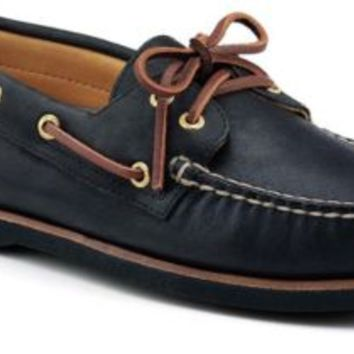 Sperry Top-Sider Gold Cup Authentic Original 2-Eye Boat Shoe BlackLeather, Size 8M  Men's Shoes