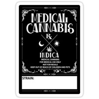 'Medical Cannabis vintage style Indica Label' Sticker by kushcoast