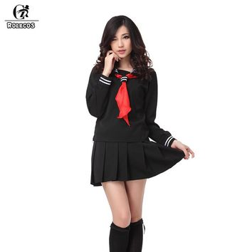 Cool ROLECOS Brand New Anime Black Hell Girl Cosplay Costumes Japanese Sailor School Girl Uniforms Enma Ai Cosplay Costume Large SizeAT_93_12