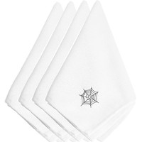 Halloween Spider Web Embroidered Napkins Set of 4 EMAI0003NPKE