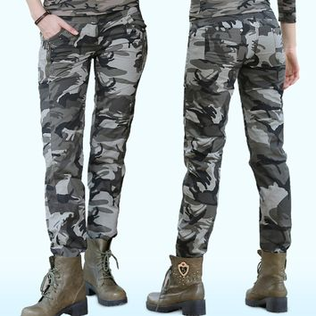 Jogger Pants Women Military Arm Straight  Pants
