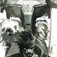 Metal Gear Solid graphic novel video game poster