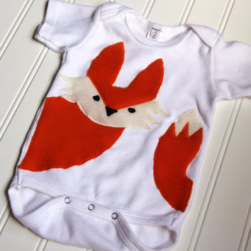 Fox Onesuit, Fox Baby Onesuit, Fox Shirt, Fox Bodysuit, Ready to Ship
