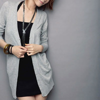 Women Casual Jumper Cardigan Long Coat Jacket Sweater Long Sleeve Knitwear LH23