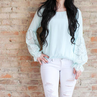 Rowena Lace Top - Mint