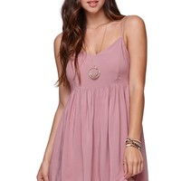 LA Hearts Babydoll Trim Dress - Womens Dress -