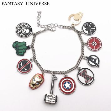 FANTASY UNIVERSE Freeshipping 20pcs a lot The Avengers charm bracelet FCZLM01