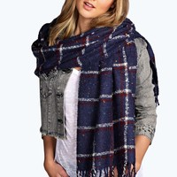 Cameron Nep Check Boucle Scarf