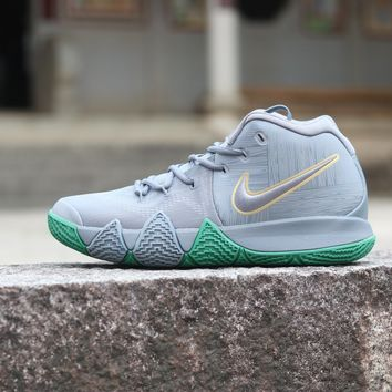 Nike Zoom  Kyrie Irving 4 Grey /Green  Basketball Sneaker