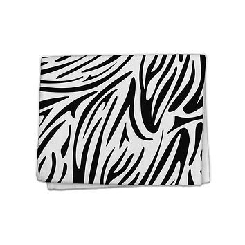 "Zebra Print 11""x18"" Dish Fingertip Towel All Over Print"