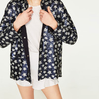 SEQUINNED STARS JACKET