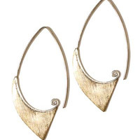 GOLD EARRINGS-unique-hoop