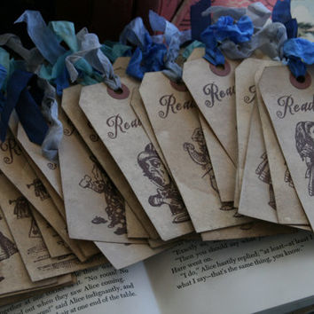 Alice in Wonderland Party Favor - READ ME - Wedding, Shower, Class Gift - Set of 10
