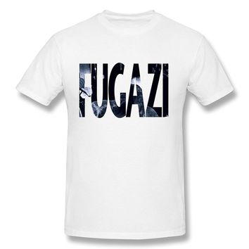 FUGAZI Punk Rock Band Music Men's T-Shirt- White