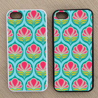 Cute Vintage Retro Flower iPhone Case, iPhone 5 Case, iPhone 4S Case, iPhone 4 Case - SKU: 224