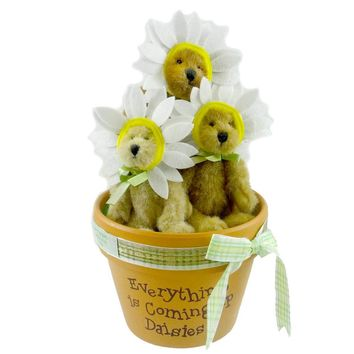 Boyds Bears Plush WHOOPS A DAISIES Fabric Exclusive Bear Of The Month 930005