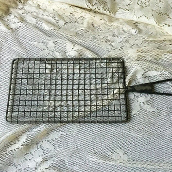 Acme Safety Grater , Vintage Grater , Potato Grater , Cheese Grater , Food Grater , Flat Wire Mesh Grater , Vintage 30s Kitchen Tool