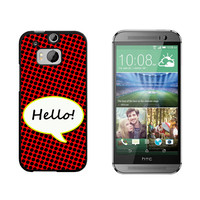 Hello Comic Talk Bubble HTC One M8 Case