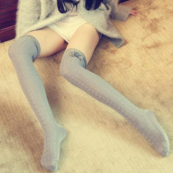 Fashion Ladies Women Girls Thigh High OVER the KNEE Socks Long Lace Stockings