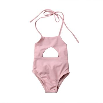 Newborn Toddler Baby Girl Clothes Pink Swimsuit Swimwear Bikini Bathing Suit Swimming Girls Summer Clothing