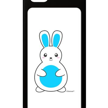 Cute Easter Bunny - Blue iPhone 5 / 5S Grip Case  by TooLoud