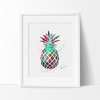 Pineapple 3.0 Watercolor Art Print
