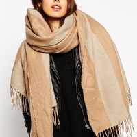 ASOS Oversized Stripe Scarf at asos.com
