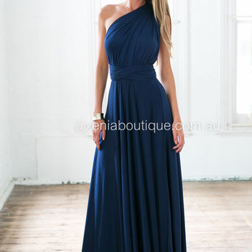 The Perfect Date 2.0 Multiway Maxi Dress (Navy)