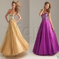 **New**Long Bridesmaid Wedding Birthday Party Prom Gown Evening Cocktail Dress