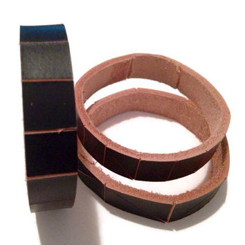Painted leather bracelets, leather bangle, leather bracelets, nautical bracelets