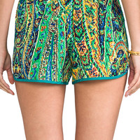 T-Bags LosAngeles Printed Shorts in Yellow