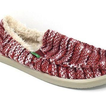 DCCKAB3 Sanuk Donna Chill Rumba Red Sidewalk Surfers