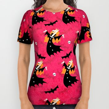 Unicorn Vampire Pattern All Over Print Shirt by That's So Unicorny