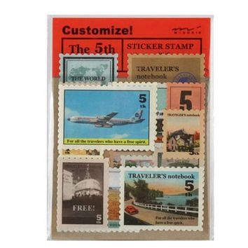 18 pcs/lot (1 bag) DIY Vintage Retro Classic Paper Travel Stamp Stickers for Decoration Scrapbooking Gifts Free shipping 506