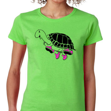 Running Turtle Crewneck Tee
