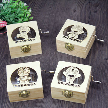 Vintage Wooden Music Creative Gifts Cats Box [6282820550]