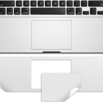 Guard with Trackpad Skin Protector Sticker Cover for MacBook Pro 15 Retina 15.4 inch Ultra Thin Silver color Metalish Flim