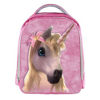 Fantastic Beasts Unicorn Backpack Small Animal Horse Children School Bags Boy Girls Pink Cartoon Kids Kindergarten Bag Backpack