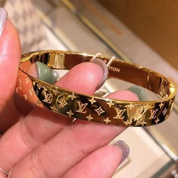 LV Louis Vuitton Popular High end Lovers Stainless Steel Bracelet