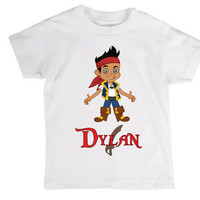 Personalized Jake and the Neverland Pirates Children's T-Shirt