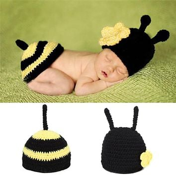 Soft Handmade Newborn Photography Props Bonnets Beanie Caps Costume Crochet Outfits Cotton Hat Animals Set