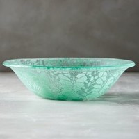 Kicking Glass by Sheree Blum Frosted Doily Bowl