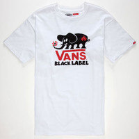 Vans Black Label Mens T-Shirt White  In Sizes