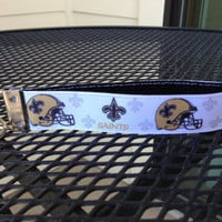 New Orleans Saints Keychain Wristlet by SweetKeeps on Etsy