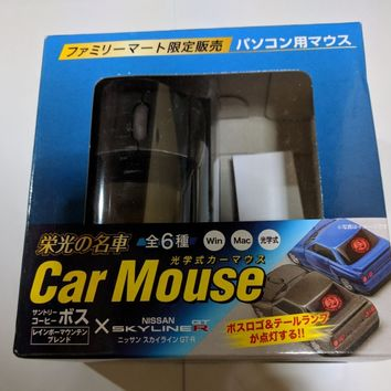 NOS Car Mouse Suntory BOSS Nissan Skyline GT-R [R32] Silver (no Coffee)