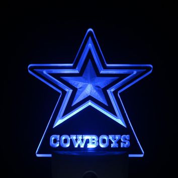 ws0115 Dallas Cowboys Day/ Night Sensor Led Night Light Sign
