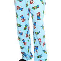 Nintendo Super Mario Bros Blue Pajama Pants