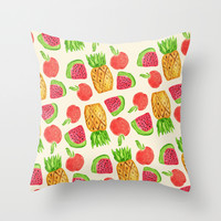 Tropical Party Throw Pillow by Allyson Johnson