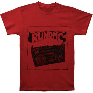 Run DMC Men's  Sketch Boombox T-shirt Red Rockabilia