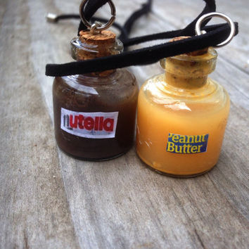 Peanut Butter and Nutella Friendship Necklace Set (Free Shipping To USA)